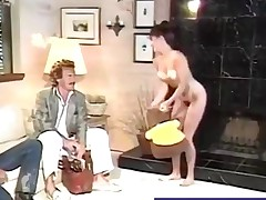 Hairy honey gets her sweet pussy plowed retro style