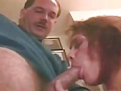 His cock sucking her hot throat