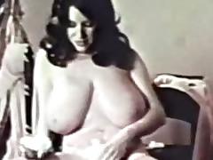 Classic Porn-Busty Brunette Shaving