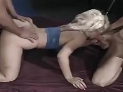 hardcore blowjob blonde trekant