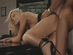 Hannah Harper acquires her tight holes banged by her lustful boss' dick