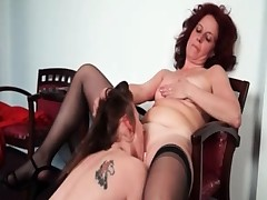 Nasty mature lesbian receives her horny part3