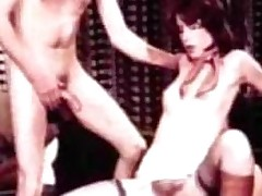 sucking blowjob trekant retro
