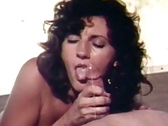 puling blowjob brunette deepthroat