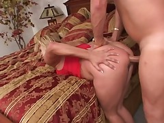 The anal cougar in red