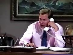 Busty Secretary banged in a vintage porno