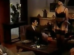 Immoral Brunette Bitch Receives Gangbanged And Facialized - Vintage German Porn