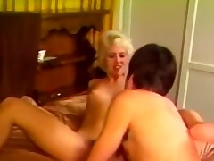 Blonde nicely treating huge private act
