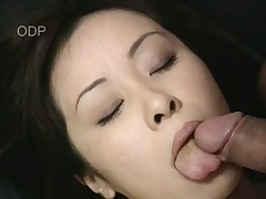 Kinky Japanese girl Mayu ties her BF'penis up before getting fucked