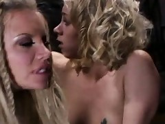 Delightsome blondes Katie Morgan and her partner get boffed by ancient prick