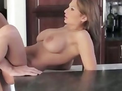 Naughty couple kitchen fuck
