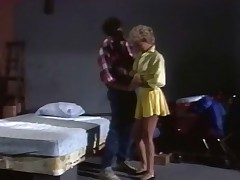 Sex from the seventies in this classic movie about a pair in a basement. This golden-haired little bimbo lets herself be undressed and then fucked in a way that makes her so hot, the love juice is dripping down her thighs and she is moaning with pleasure!