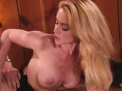 Big breasted blonde Nikki Shane brings her office fantasies to fruition