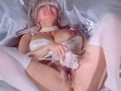 Big Meatballs Granny Candy Samples Masturbates in Wedding Dress
